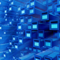 Database- 3d rendering.
