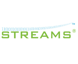 STS streams logo binary code