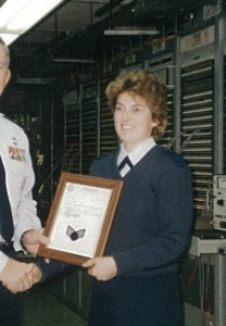 Kelly Terrien, honored for veterans day