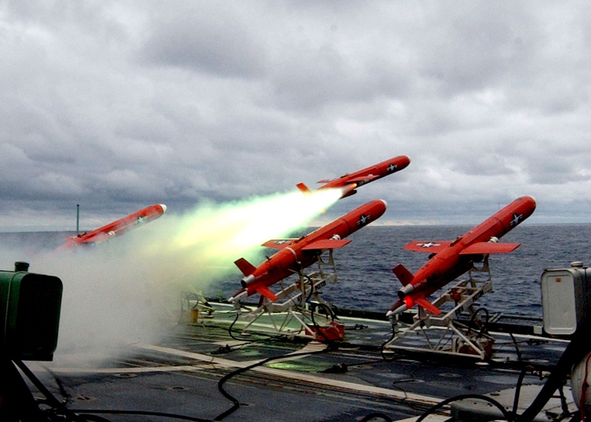 Testing of Missiles on Naval Ship